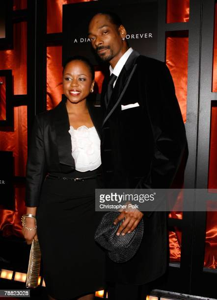 Rapper Snoop Dogg and Wife Shante Taylor arrive at the 13th ANNUAL CRITICS' CHOICE AWARDS at the Santa Monica Civic Auditorium on January 7, 2008 in...