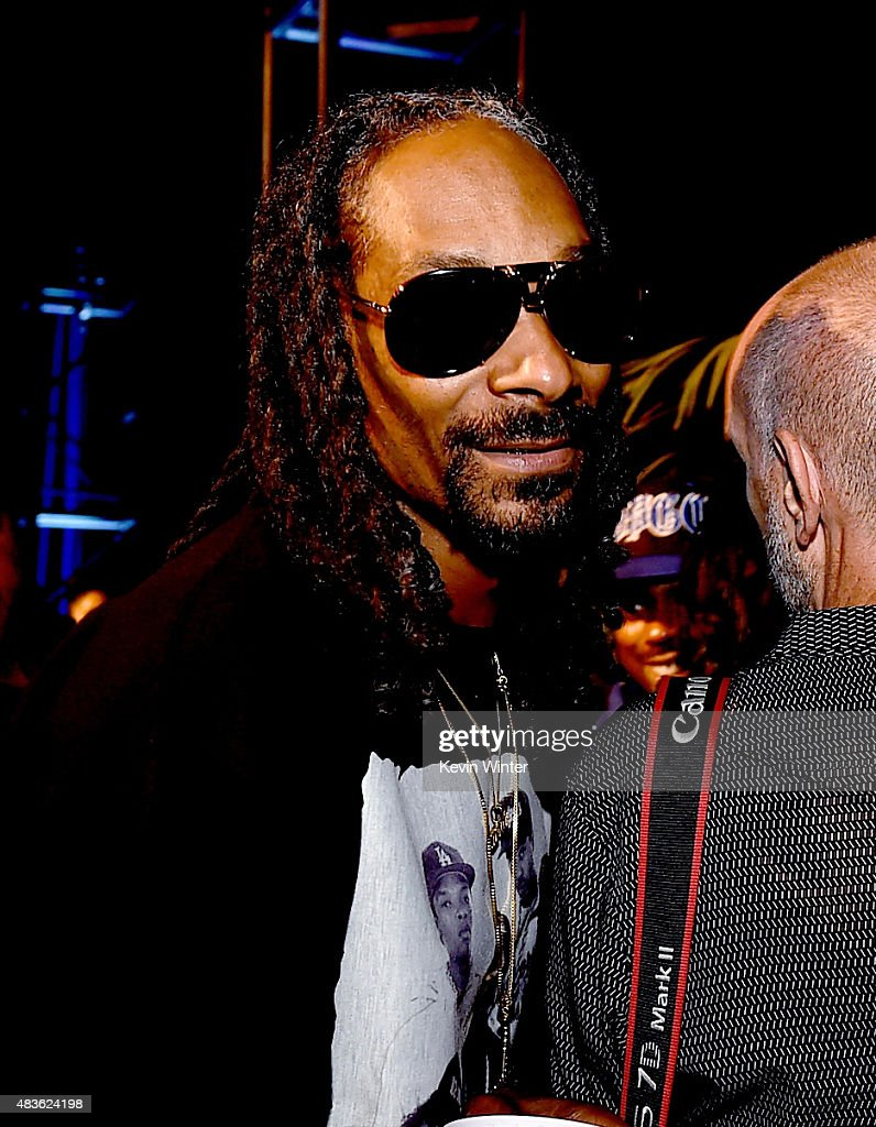 Rapper Snoop Dogg appears at the after party for the premiere of Universal Pictures and Legendary Pictures' 'Straight Outta Compton' at the Microsoft Theatre on August 10, 2015 in Los Angeles, California.