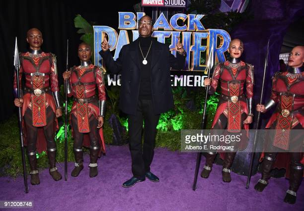 Rapper Snoop Dogg at the Los Angeles World Premiere of Marvel Studios' BLACK PANTHER at Dolby Theatre on January 29 2018 in Hollywood California
