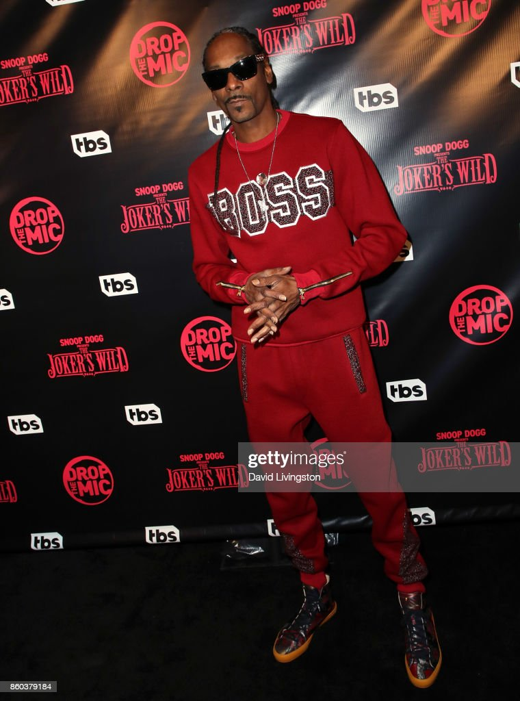Rapper Snoop Dogg attends the premiere for TBS's 'Drop The Mic' and 'The Joker's Wild' at The Highlight Room on October 11, 2017 in Los Angeles, California.