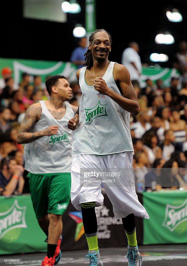 Rapper Snoop Dogg attends the Sprite Celebrity Basketball Game during the 2014 BET Experience At L.A. LIVE on June 28, 2014 in Los Angeles, California.