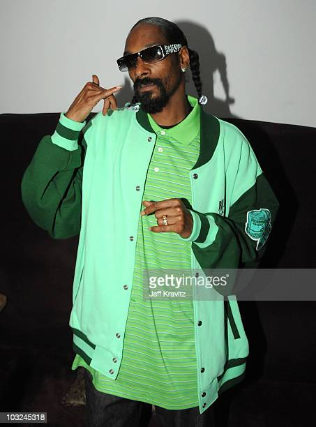 Rapper Snoop Dogg attends the Takers Los Angeles Premiere after party held at Boulevard 3 on August 4 2010 in Hollywood California