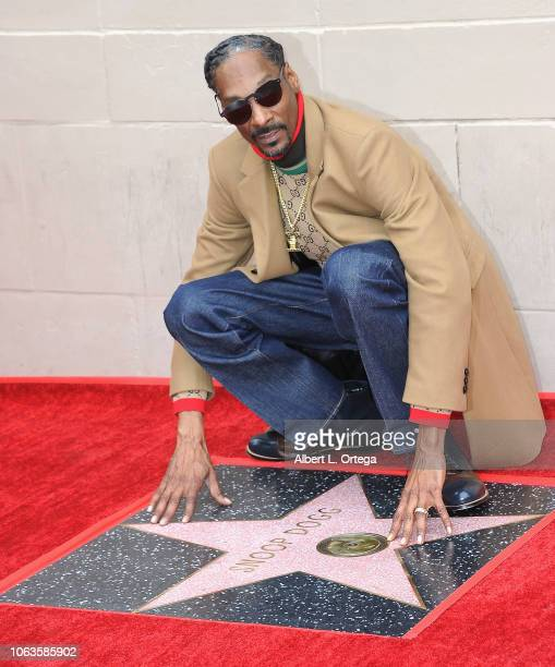 Rapper Snoop Dogg Honored With Star On The Hollywood Walk Of Fame held on November 19 2018 in Hollywood California