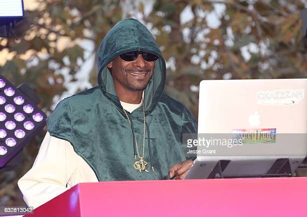 Rapper Snoop Dogg performs at the Viacom Hollywood Office Grand Opening on January 26 2017 in Los Angeles California