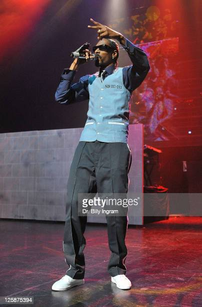 Rapper Snoop Dogg Performs In The Imagine That Concert At Gibson Amphitheatre On November 3 2010