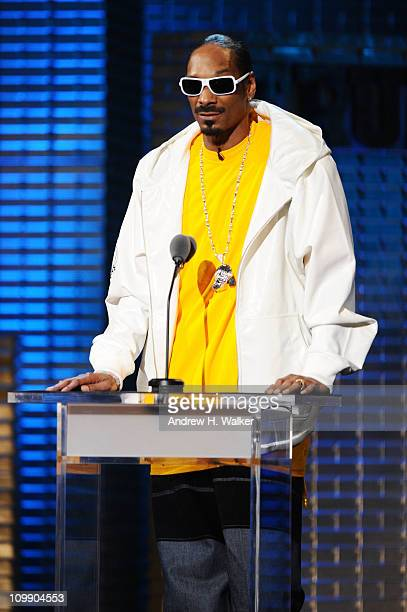 Rapper Snoop Dogg performs onstage at the Comedy Central Roast Of Donald Trump at the Hammerstein Ballroom on March 9 2011 in New York City