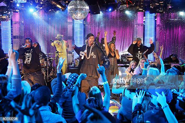 Rapper Snoop Dogg performs onstage during MTV's Total Request Live at the MTV Times Square Studios on March 11 2008 in New York City