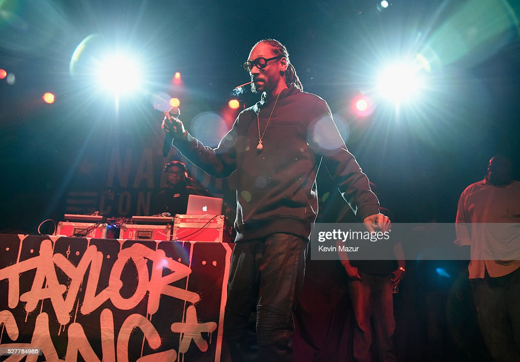 Rapper Snoop Dogg performs onstage during the 2nd Annual National Concert Day presented by Live Nation at Irving Plaza on May 3, 2016 in New York City.