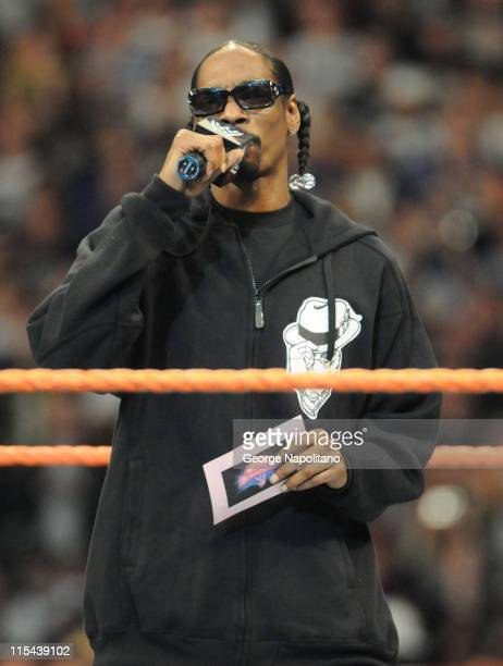 Rapper Snoop Dogg was among the many celebrities who took part in Wrestlemania XXIV at the Citrus Bowl on March 29 2008 in Orlando Florida