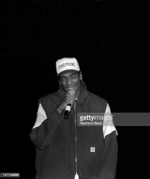 Rapper Snoop Doggy Dogg performs at the Regal Theater in Chicago Illinois in 1993