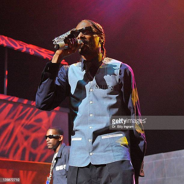 Rapper Snoop Doog Performs In The Imagine That Concert At Gibson Amphitheatre On November 3 2010