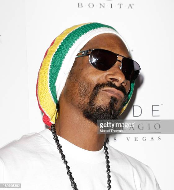 Rapper Snoop Lion attends the launch party for Bonita Platinum Tequila Line at Hyde Bellagio at the Bellagio on March 2 2013 in Las Vegas Nevada