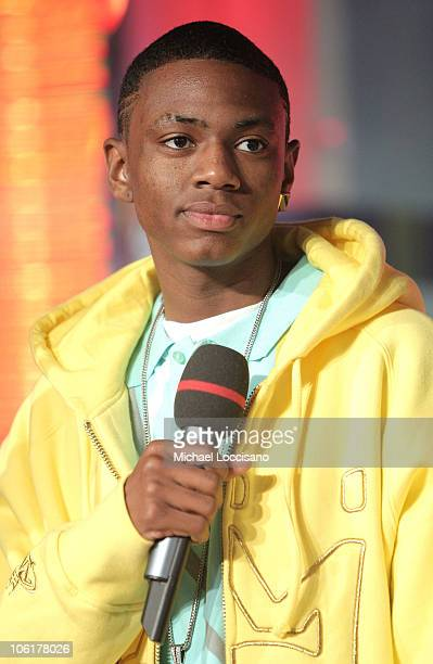 Rapper Soulja Boy appears on MTV's TRL at MTV's Times Square Studio in New York City on November 12 2007 The air date for this show is November 14...