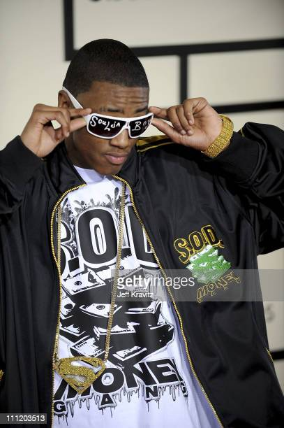 Rapper Soulja Boy arrives to the 50th Annual GRAMMY Awards at the Staples Center on February 10 2008 in Los Angeles California