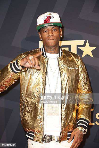 Rapper Soulja Boy attends BET Music Moguls premiere event at 1OAK on June 27 2016 in West Hollywood California