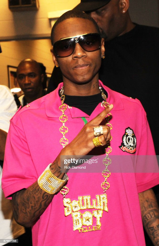 Rapper Soulja Boy backstage at TI's Final Countdown Concert at Philips Arena on May 24, 2009 in Atlanta, Georgia.