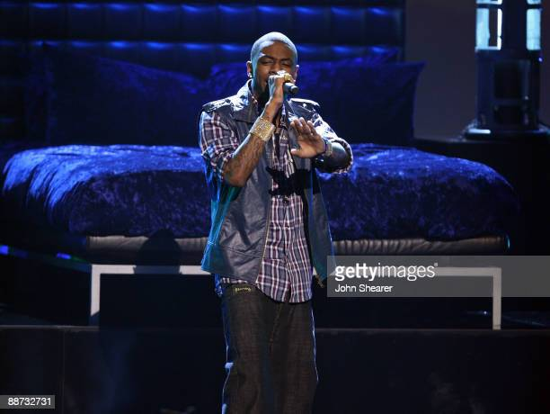 Rapper Soulja Boy Tell Em onstage at the 2009 BET Awards at the Shrine Auditorium on June 28 2009 in Los Angeles California