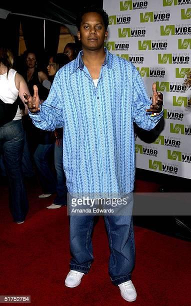 Rapper Special Ed attends the 2004 Vibe Awards on UPN at Barker Hangar November 15 2004 in Santa Monica California