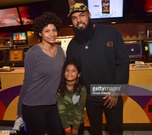 Rapper Stalley attends 'Black Panther' Advance Screening at Regal Hollywood on February 13 2018 in Chamblee Georgia