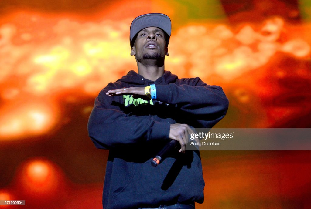 Rapper Stix performs onstage during the 93.5 KDAY Krush Groove 2017 concert at The Forum on April 22, 2017 in Inglewood, California.