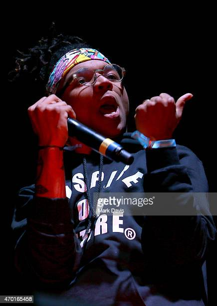 Rapper Swae Lee of Rae Sremmurd performs onstage with DJ Snake during day 1 of the 2015 Coachella Valley Music And Arts Festival at The Empire Polo...
