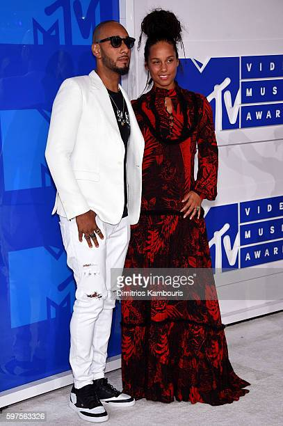 Rapper Swizz Beatz and singersongwriter Alicia Keys attend the 2016 MTV Video Music Awards at Madison Square Garden on August 28 2016 in New York City