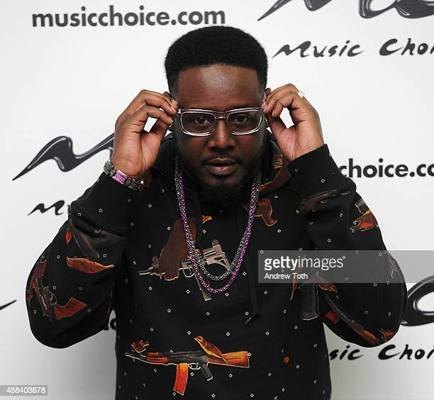 Rapper T Pain Visits Music Choice's 'You A' at Music Choice on November 4 2014 in New York City