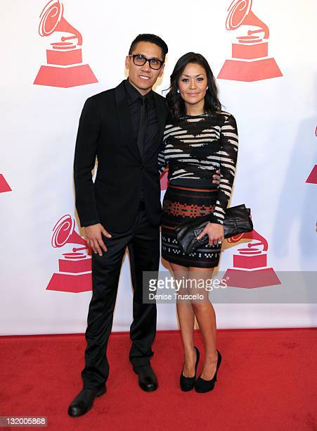 Rapper Taboo of the Black Eyed Peas and Jaymie Dizon arrive at the 2011 Latin Recording Academy Person Of The Year honoring Shakira held at the...
