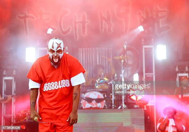 Rapper Tech N9ne performs at MAPFRE Stadium on May 17 2015 in Columbus Ohio