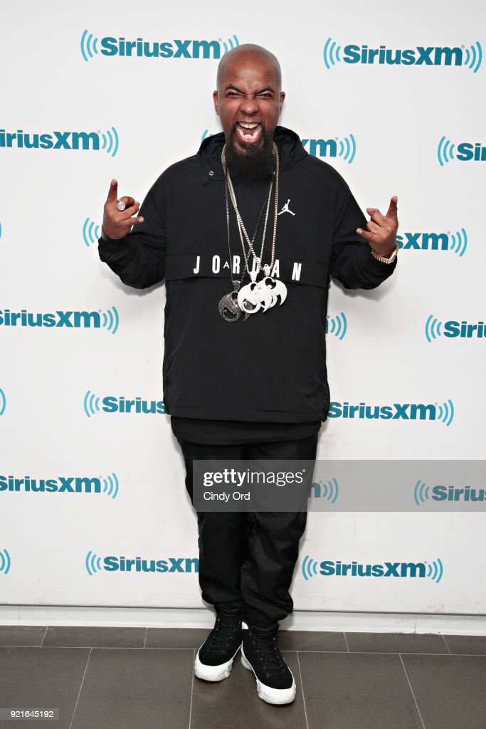 Rapper Tech N9ne visits the SiriusXM Studios on February 20, 2018 in New York City.