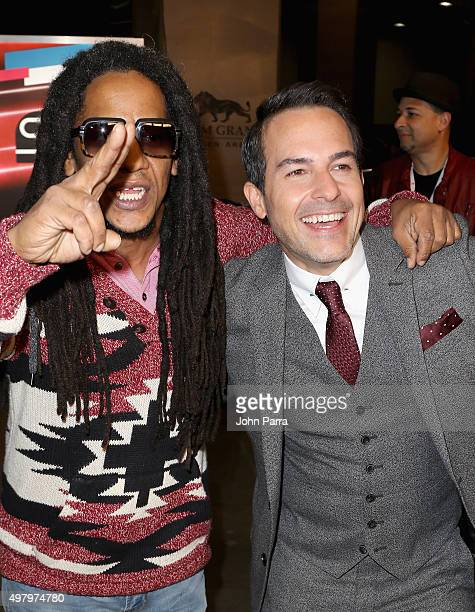 Rapper Tego Calderon and TV personality Carlos Calderon attend the 16th Latin GRAMMY Awards at the MGM Grand Garden Arena on November 19 2015 in Las...