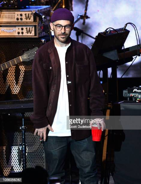 Rapper The Alchemist performs onstage during the Mac Miller A Celebration of Life benefit concert on October 31 2018 in Los Angeles California