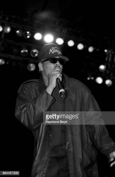 Rapper The DOC performs during the 'Straight Outta Compton' tour at the Mecca Arena in Milwaukee Wisconsin in June 1989