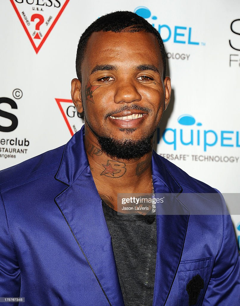 Rapper The Game attends the 'America's Next Top Model' 20th cycle gala celebration at SupperClub Los Angeles on August 7, 2013 in Los Angeles, California.