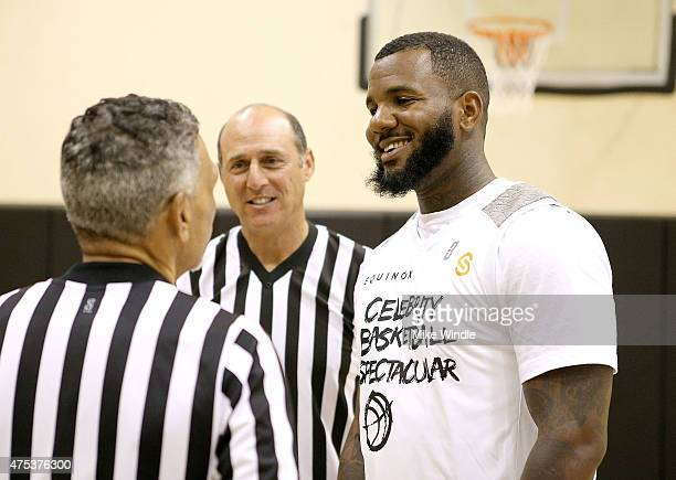 Rapper The Game plays in the Equinox 'Celebrity Basketball Spectacular' To Benefit Sports Spectacular on May 30 2015 in West Los Angeles California