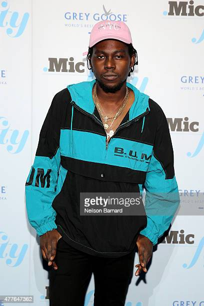 Rapper Theophilus London attends GREY GOOSE Vodka Hosts The Inaugural Mic50 Awards at Marquee on June 18 2015 in New York City