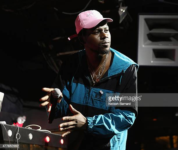 Rapper Theophilus London performs onstage GREY GOOSE Vodka Hosts The Inaugural Mic50 Awards at Marquee on June 18 2015 in New York City