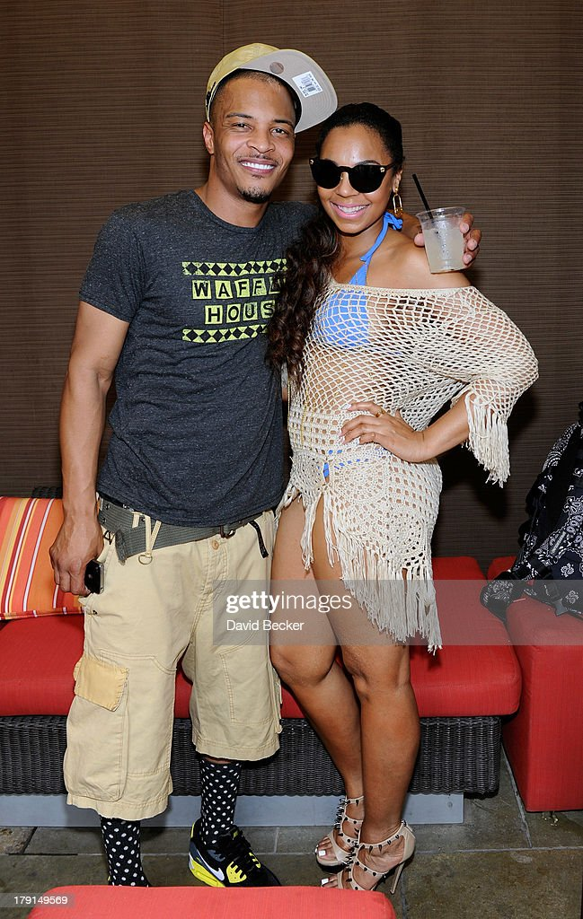 Rapper T.I. (L) and singer/actress Ashanti appear at 'Ditch Saturdays' at the Palms Pool & Bungalows at The Palms Casino Resort on August 31, 2013 in Las Vegas, Nevada.