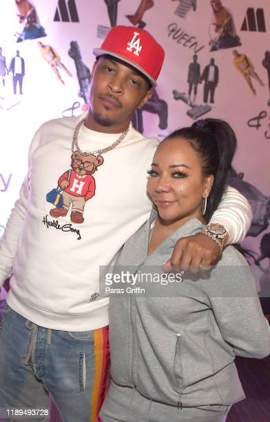 """Rapper T.I. And Tameka """"Tiny"""" Harris attend """"Queen & Slim"""" screening and conversation at Woodruff Arts Center on November 22, 2019 in Atlanta,..."""