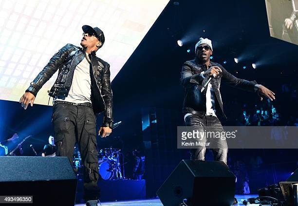 Rapper TI and Young Dro perform onstage during TIDAL X 1020 Amplified by HTC at Barclays Center of Brooklyn on October 20 2015 in New York City
