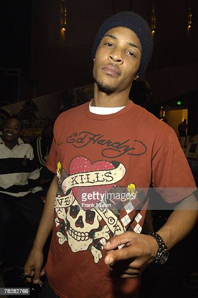 Rapper T.I at the BET Hip Hop Awards 2007 Rehearsals at the Atlanta Civic Center on October 12, 2007 in Atlanta, GA.