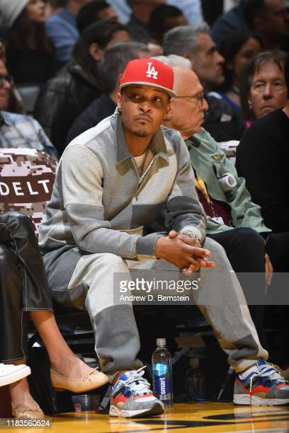 Rapper TI attends a game between the Oklahoma City Thunder and the Los Angeles Lakers on November 19 2019 at STAPLES Center in Los Angeles California...