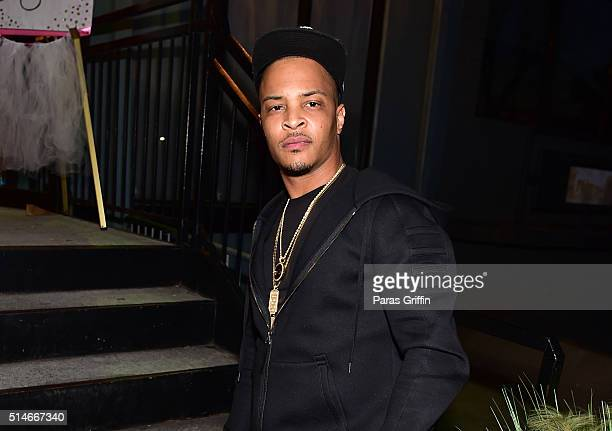 Rapper TI attends TI Tameka 'Tiny' Harris Private Baby Shower on March 6 2016 in Atlanta Georgia