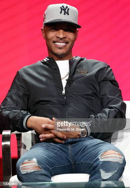 Rapper TI of of the television show 'The Grand Hustle' speaks during the Viacom segment of the Summer 2018 Television Critics Association Press Tour...
