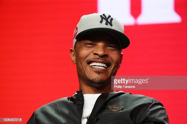 Rapper TI of the television show 'The Grand Hustle' speaks during the Viacom segment of the Summer 2018 Television Critics Association Press Tour at...