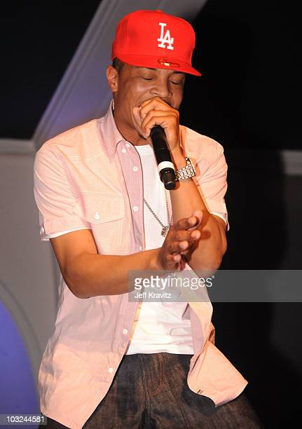 Rapper TI performs at the 'Takers' Los Angeles Premiere after party held at Boulevard 3 on August 4 2010 in Hollywood California