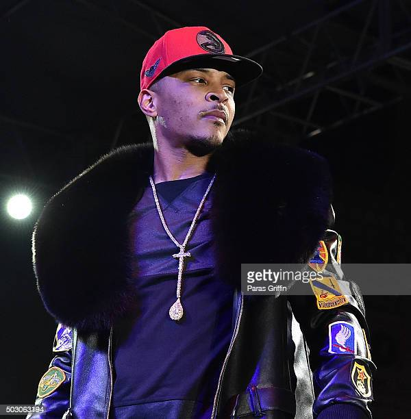 Rapper TI performs onstage at Peach Drop 2016 at Underground Atlanta on December 31 2015 in Atlanta Georgia
