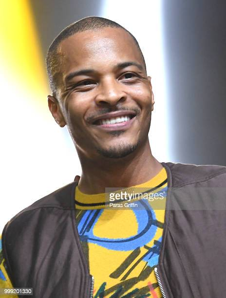 Rapper TI performs onstage during 2018 V103 Car Bike Show at Georgia World Congress Center on July 14 2018 in Atlanta Georgia