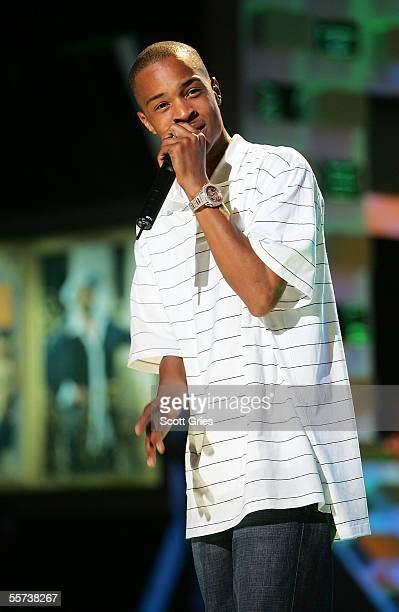Rapper TI rehearses for the VH1 Hip Hop Honors at the Hammerstein Ballroom September 21 2005 in New York City