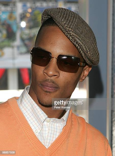 Rapper TI stops by MTV studios for a taping of MTV2 presents Hip Hop February 15 2006 in New York City